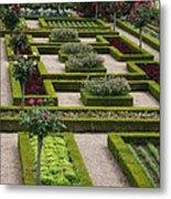 Cabbage Garden Chateau Villandry  Metal Print