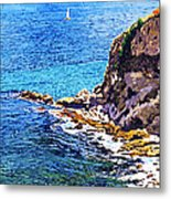 California Coastline  Metal Print by David Lloyd Glover