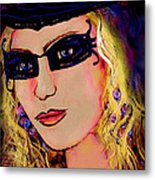 Casablanca Girl Metal Print