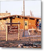 Chamber Of Commerce Log Cabin Fairbanks Alaska 1969 Metal Print
