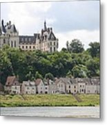 Chateau De Chaumont Stands Above The River Loire Metal Print