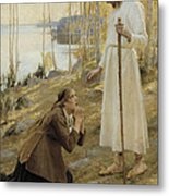 Christ And Mary Magdalene A Finnish Legend Metal Print