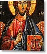 Christ The Pantocrator Icon II Metal Print