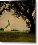 Church On The Plain Metal Print