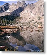 Cirque Of The Towers In Lonesome Lake   Metal Print