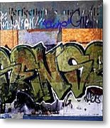 City Grafitti Making Sense  Metal Print