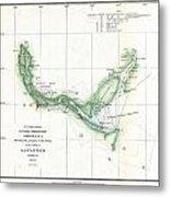 Coast Survey Chart Or Map Of The Savannah River Ans Savannah Georgia Metal Print