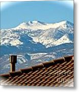 Cold Day New Snow Up There Metal Print