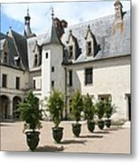 Courtyard Chateau Chaumont Metal Print
