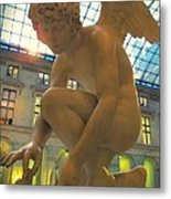 Cupid Playing With A Butterfly - Louvre Museum Paris Metal Print