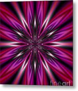 Dark Purple Abstract Star Duvet Cover  Metal Print