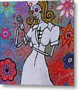 Dia De Los Muertos Nurse Metal Print