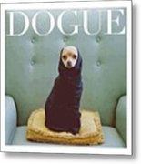 😂😂😂😂 #dogue #vogue Metal Print