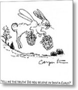 Easter Bunny Truth  Metal Print