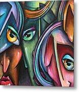 ' Face Us 2' Metal Print