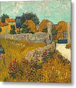 Farmhouse In Provence Metal Print