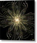 Filigree Flower Metal Print