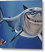 Finding Nemo Painting Metal Print