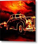 Fire  Flame  Hell  Classic Car  City Metal Print
