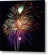 Fireworks Across The Bay Metal Print