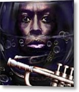 Fish Bowl Of Miles  Metal Print by Reggie Duffie
