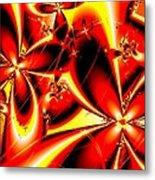 Flaming Red Flowers Metal Print