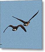 Fleeing Geese Metal Print