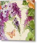 Flowering Butterfly Bush Metal Print