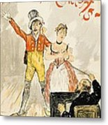 France Paris Poster Of Stage Performance At Cafe Chantant Metal Print