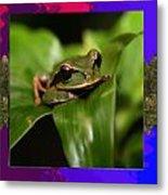Frog Hideous Green Amphibian Metal Print