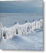 Frozen Pier Metal Print