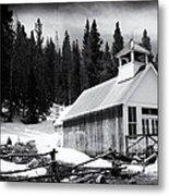 Ghost Town Church Metal Print