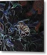 Glowing Bee  Metal Print