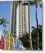 Hawaiian Surf Board's  Metal Print