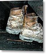His Work Boots Metal Print