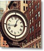 Historic Clock Of The Fifth Avenue Metal Print