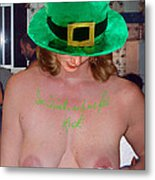 Im Irish Rub Me For Luck Metal Print
