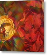 Impressionistic Bouquet Of Red Flowers Metal Print