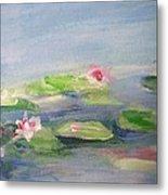 Impressionistic Lilies Monet Metal Print