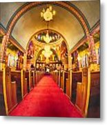 Interior Of  Holy Trinity Gre Metal Print