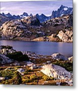 Island Lake And Wind River Range Metal Print