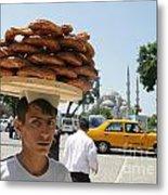 Istanbul Kulouria Seller Metal Print