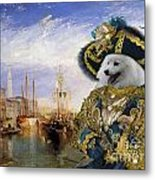Japanese Spitz Art Canvas Print Metal Print