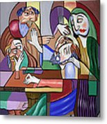 Jesus Anointed At Bethany Metal Print