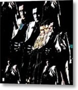 Johnny Cash Multiplied  Metal Print