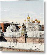 Kremlin  In Winter        Date 1908? Metal Print