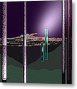 076 - Landscape With Columns And Two Monoliths  Metal Print