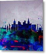 Las Vegas Watercolor Skyline Metal Print