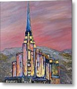 Latter Day Saints Rexburg Mormon Temple Rexburg Idaho Metal Print