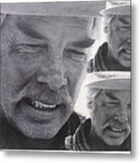 Lee Marvin Monte Walsh Variation #3 Collage Old Tucson Arizona 1969-2012 Metal Print